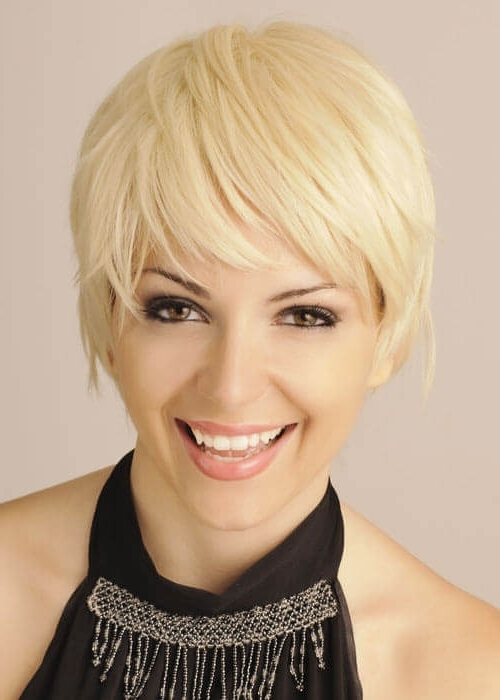 Top 36 Short Blonde Hair Ideas For A Chic Look In 2018 Regarding Trendy Finely Chopped Buttery Blonde Pixie Haircuts (View 6 of 15)