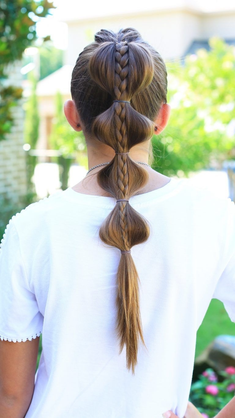 Top French Braid Into Plain Braid On Top (View 8 of 15)