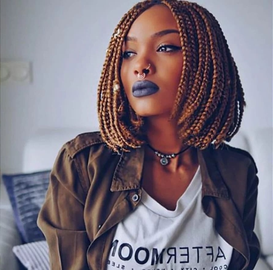 Top Short Bob Braids Hairstyles For 2018 ▷ Naija (View 13 of 15)