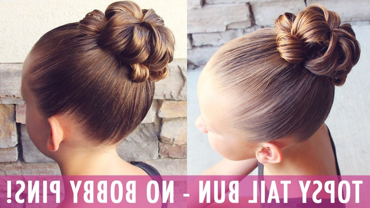 Topsy Tail Bun – No Way! A Bun With No Bobby Pins?! Yes Please For Most Up To Date Messy Flipped Braid And Bun Hairstyles (View 5 of 15)
