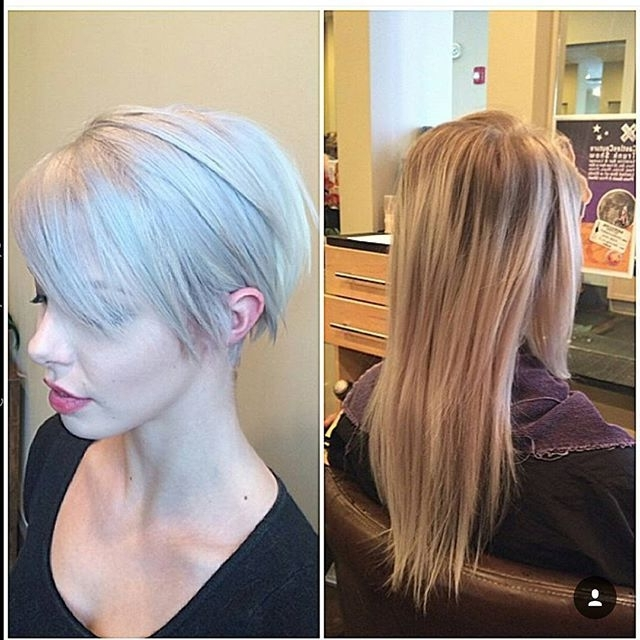 Trendy Ash Blonde Pixie With Nape Undercut With 21 Stunning Long Pixie Cuts – Short Haircut Ideas For (View 14 of 15)