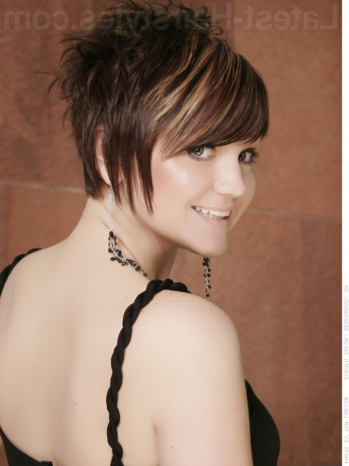 Trendy Choppy Pixie Haircuts With Side Bangs Intended For 47 Popular Short Choppy Hairstyles For (View 13 of 15)