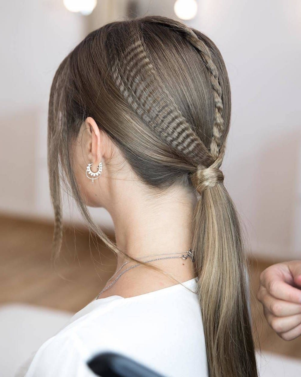 Trendy Crimped Crown Braids Regarding Here's Exactly How To Wear Crimped Hair In (View 4 of 15)