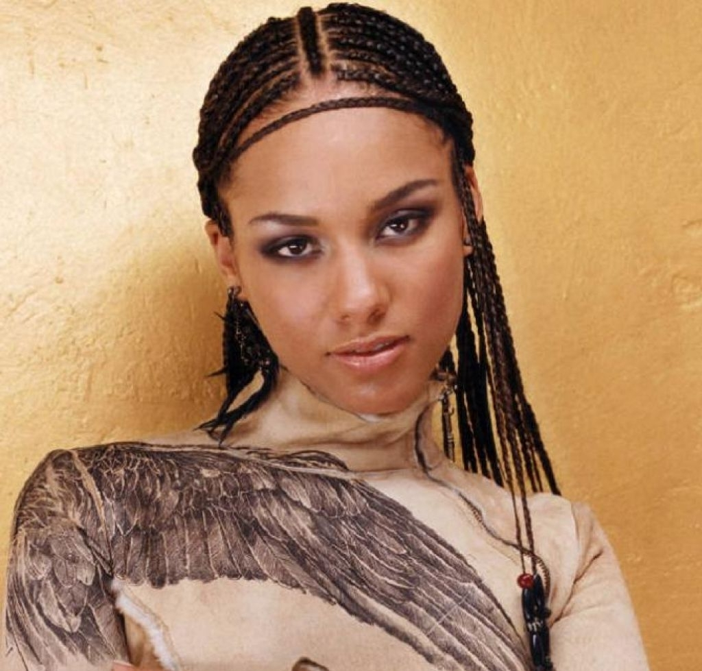 Trendy Cute Cornrows Hairstyles Pertaining To Cute Cornrow Braids Hairstyles For Black Women (View 13 of 15)
