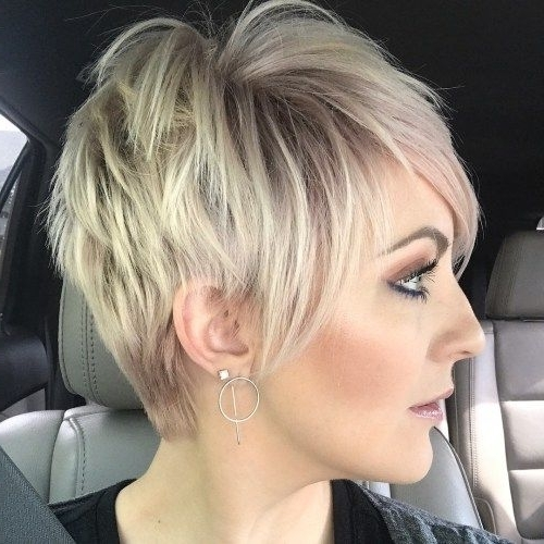Featured Photo of Disconnected Blonde Balayage Pixie Haircuts