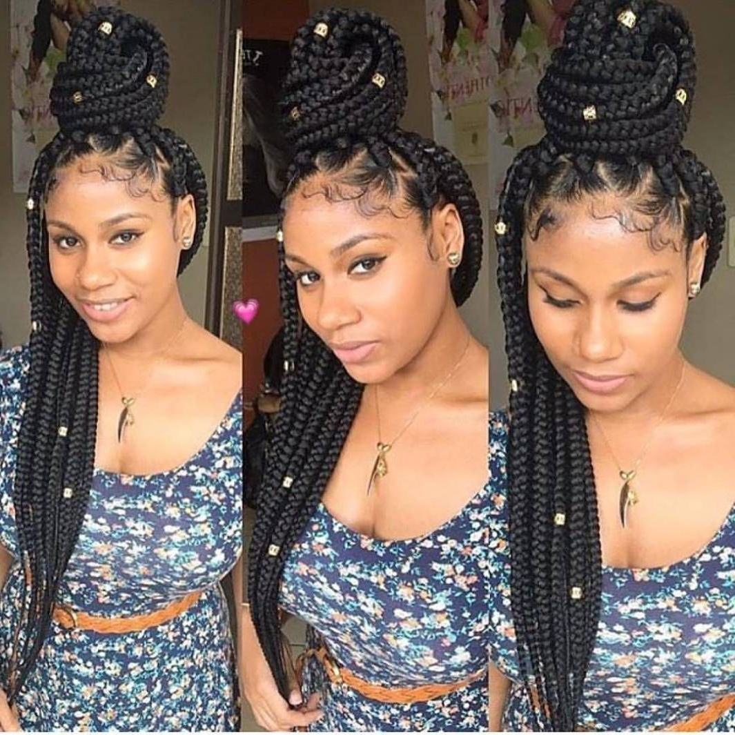 Trendy Hair, Box Within Trendy Super Long Dark Braids With Cuffs (View 7 of 15)