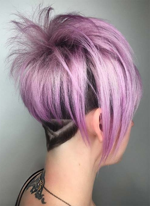 Trendy Lavender Pixie Bob Haircuts Intended For 100 Short Hairstyles For Women: Pixie, Bob, Undercut Hair (View 14 of 15)