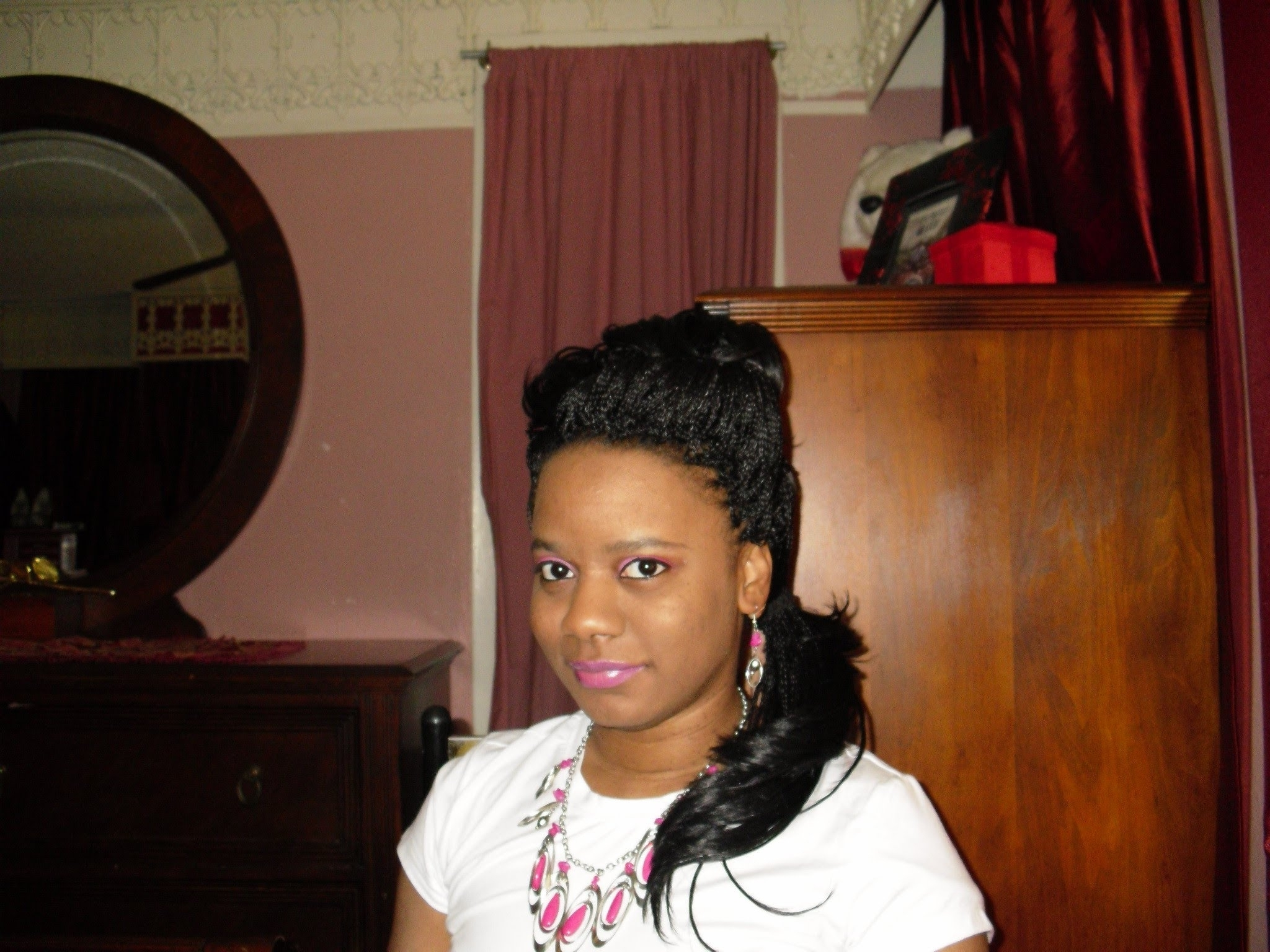 """Trendy Side Ponytail Braids With A Twist With Regard To Crochet Braids 2012: """"simple Side Ponytail With Twist"""" – Youtube (View 15 of 15)"""
