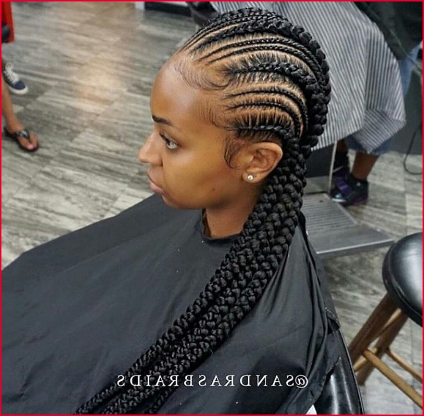 Trendy Small Cornrows Hairstyles In Small Cornrow Hairstyles 23186 Stunningly Cute Ghana Braids Styles (View 13 of 15)
