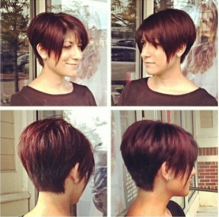 Trendy Stacked Pixie Bob Haircuts With Long Bangs Within 23 Best New Hairstyles For Fine Straight Hair – Popular Haircuts (View 9 of 15)