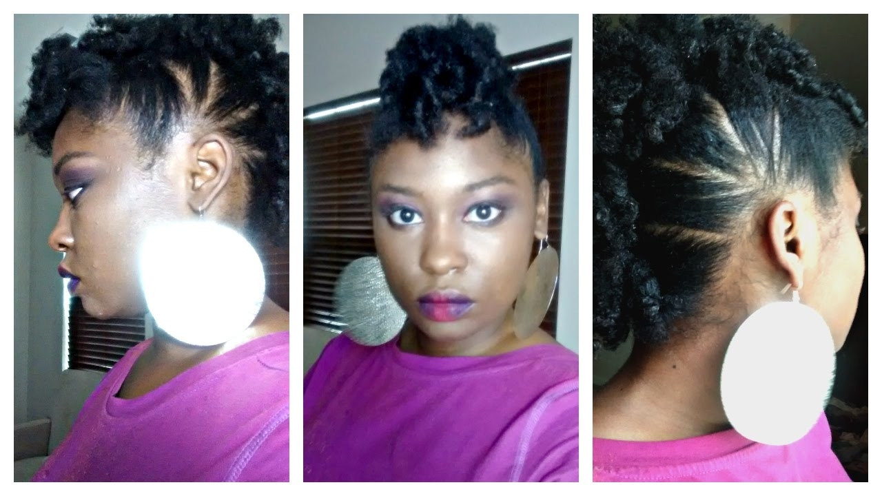 Trendy Twisted Black And Magenta Mohawk Pertaining To 6 Of The Best Styles For Long Or Short 4B/4C Natural Hair —  (View 13 of 15)