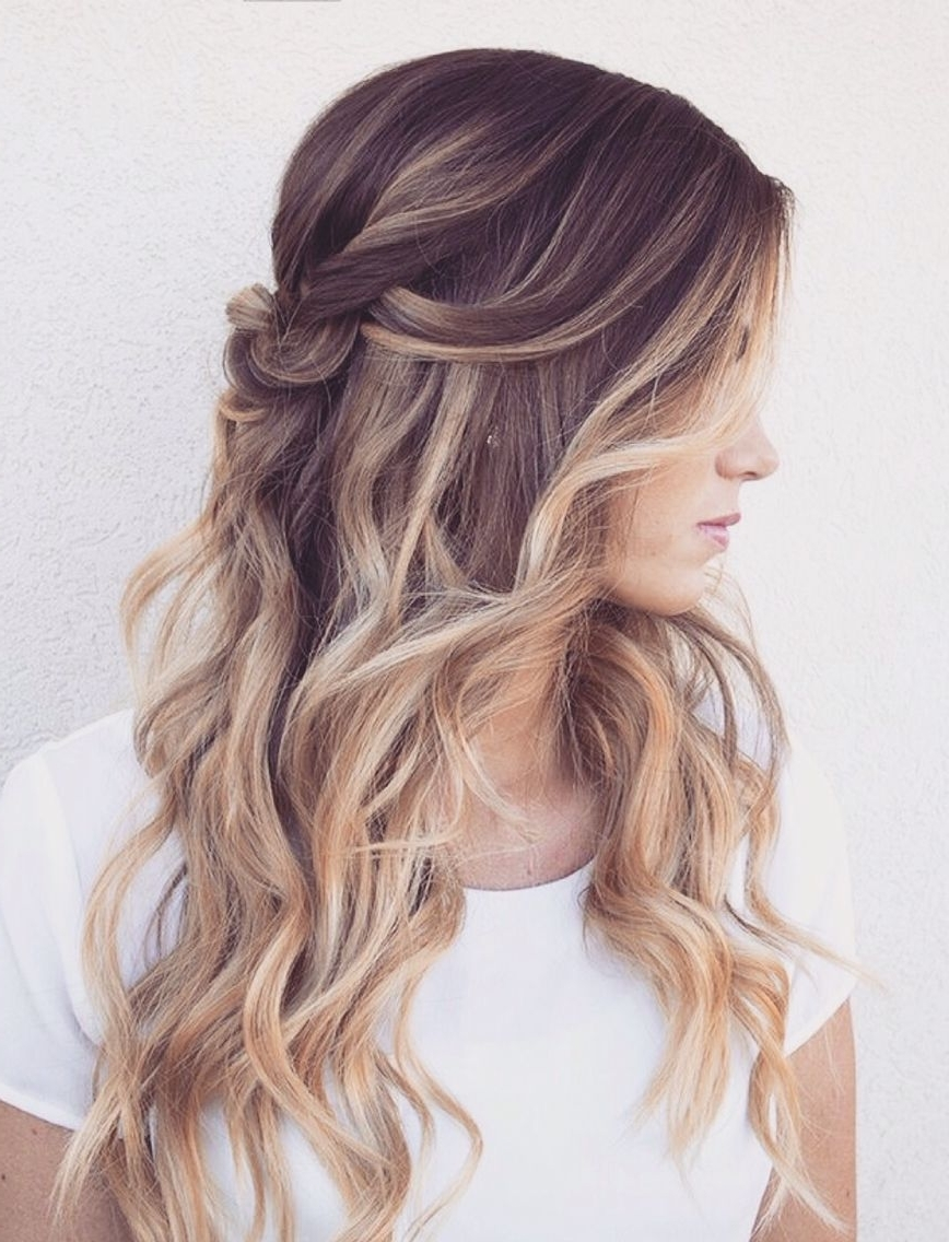 Trendy Twisted Updo With Blonde Highlights Within 70 Best Ombre Hair Color Ideas For 2018 – Hottest Ombre Hairstyles (View 11 of 15)