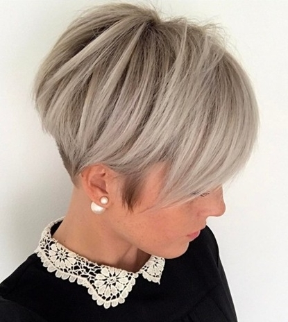 Trendy Women » Ash Blonde Pixie With Nape Undercut With Regard To Famous Ash Blonde Pixie With Nape Undercut (View 15 of 15)