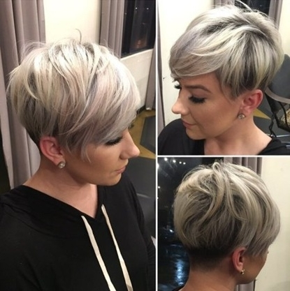 Trendy Women » Sassy Undercut Pixie With Bangs With Most Popular Sassy Undercut Pixie With Bangs (View 14 of 15)