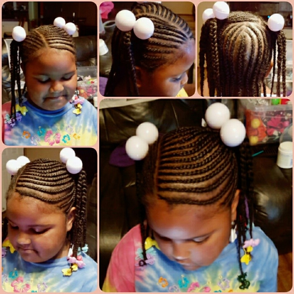 Trendy Youthful Fulani Crown With Horizontal Braids Pertaining To Kids Hairstyles, School Hairstyles, Little Black Girls Hairstyles (View 12 of 15)