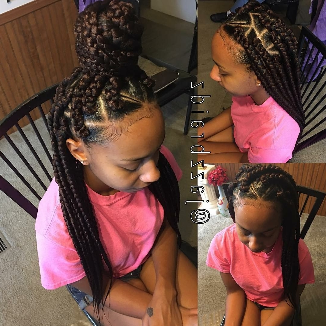 Featured Photo of Braided Hairstyle With Jumbo French Braid
