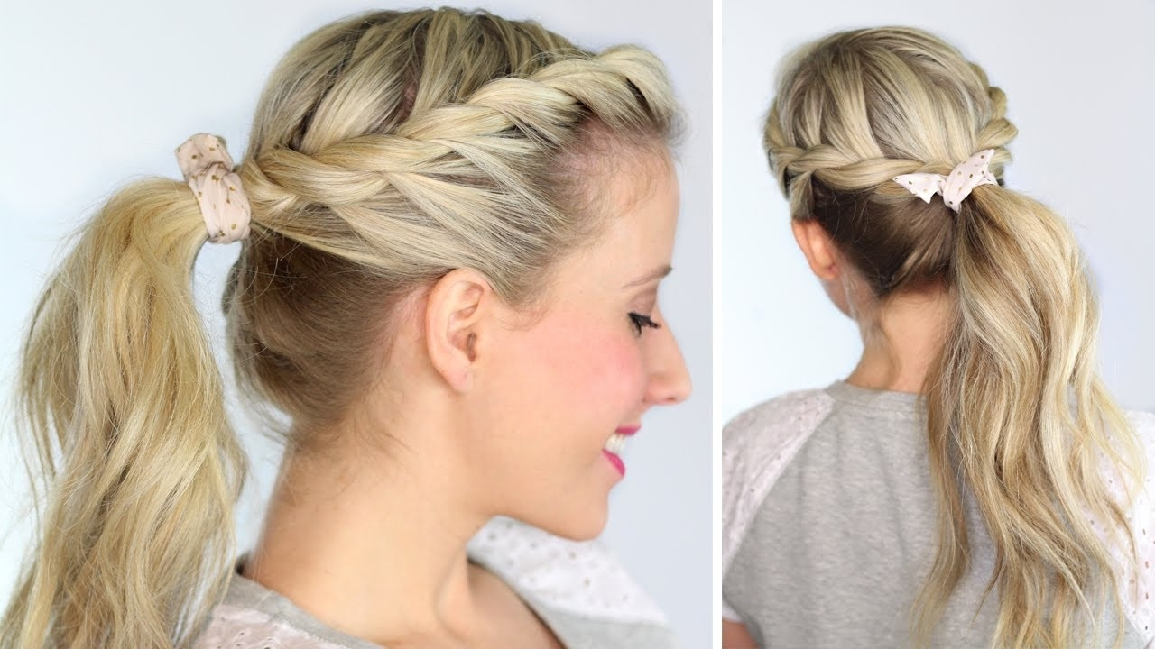 Twisted Ponytail – Youtube Pertaining To Current Wrapped Ponytail With In Front Of The Ear Braids (View 13 of 15)