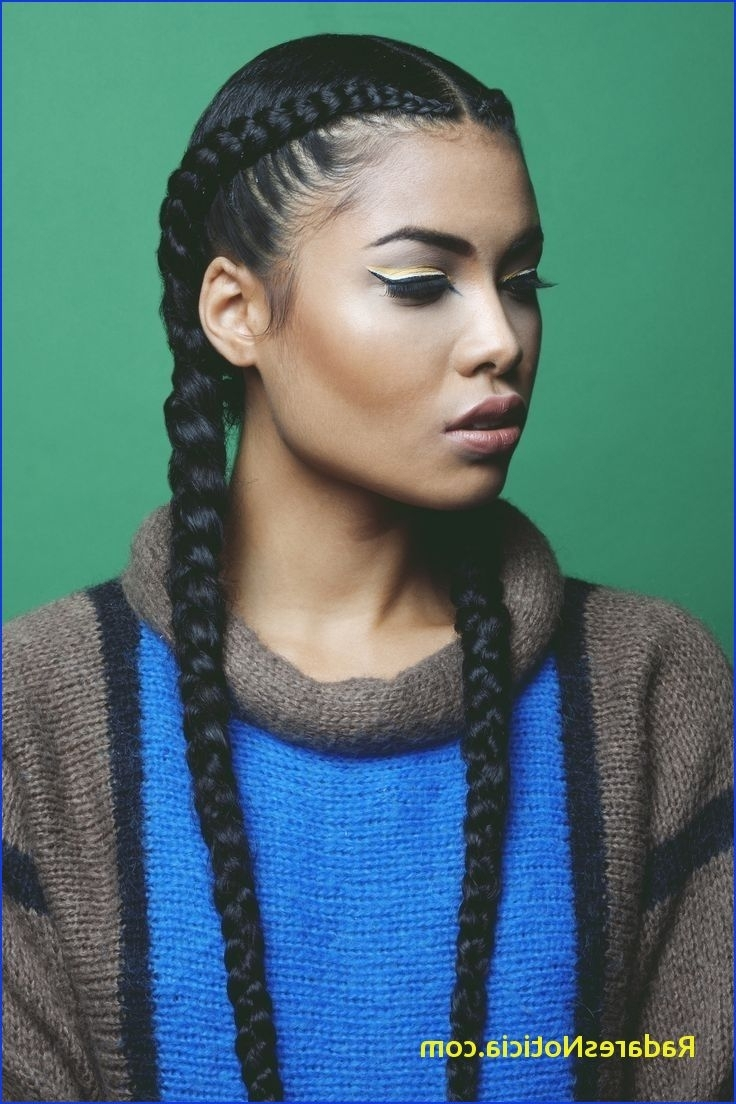 Two Braids With Weave Two Cornrows Braids With Weave Natural In Recent Cornrows Hairstyles With Weave (View 12 of 15)