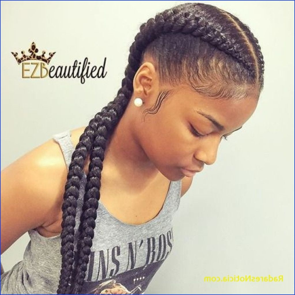 Two Cornrows Unique Two Cornrows With Hair Out – Radaresnoticia With Trendy Two Cornrows Hairstyles (View 12 of 15)