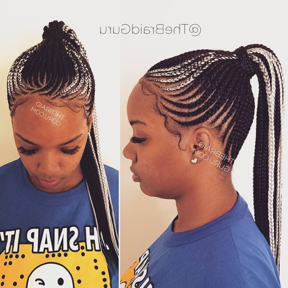 Under Braid Hairstyles Elegant My Work Cornrow Ponytail Clearly I M Regarding Latest Cornrows Hairstyles For Work (View 13 of 15)