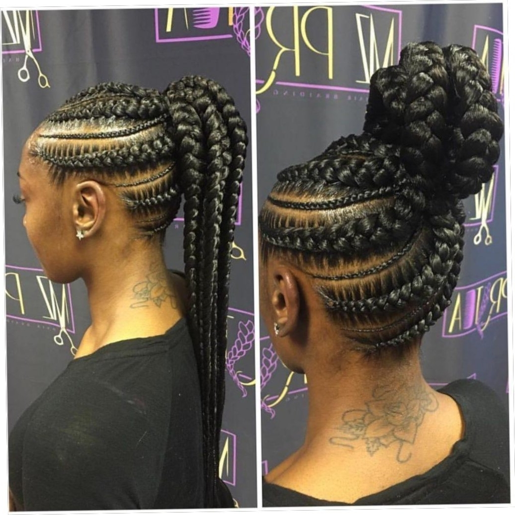 Up Do Jumbo Cornrow Braids Are The New Hairstyle Sensation In With Most Recently Released Jumbo Cornrows Hairstyles (View 14 of 15)
