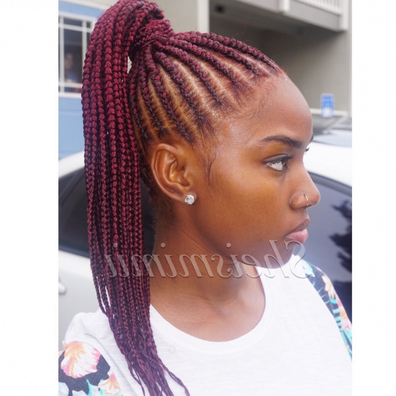 Updo Cornrow Hairstyles For Black Women Unique Stunningly Cute Ghana Intended For Most Popular Cornrow Hairstyles Up In One (View 8 of 15)