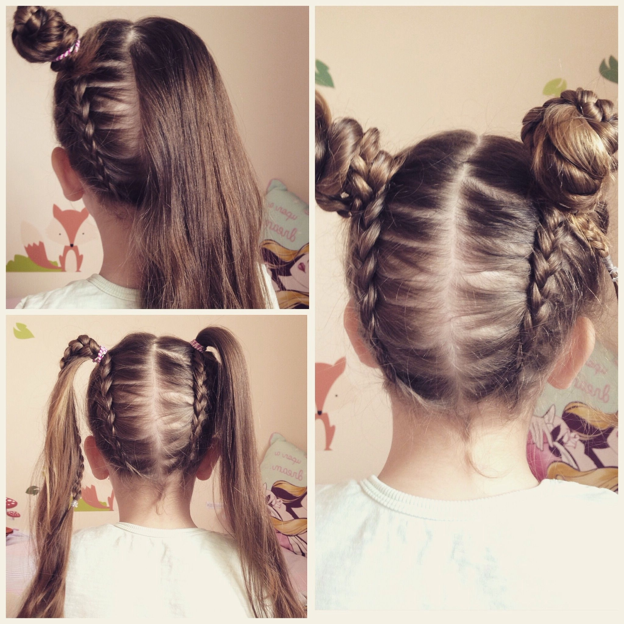 Upside Down Dutch Braid Into Messy Bun Pigtails (View 12 of 15)