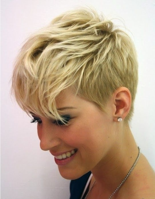 Very Short Hairstyles For Fine Inside Trendy Finely Chopped Pixie Haircuts For Thin Hair (View 3 of 15)