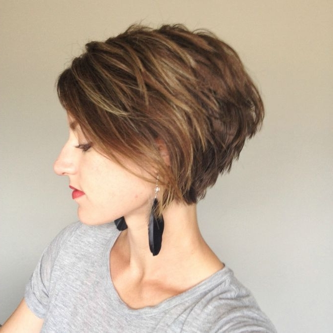 Well Known Angled Pixie Bob Haircuts With Layers Regarding 50 Incredible Stacked Haircuts (View 12 of 15)