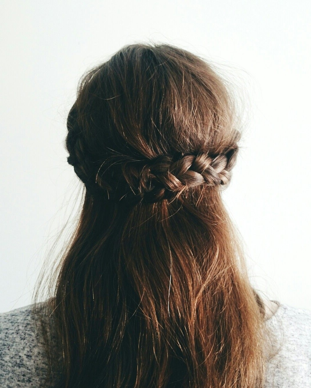 Well Known Artistically Undone Braid Hairstyles Regarding Hairstyles Of The Month / Half Crown Braid Tutorial / Braided (View 8 of 15)