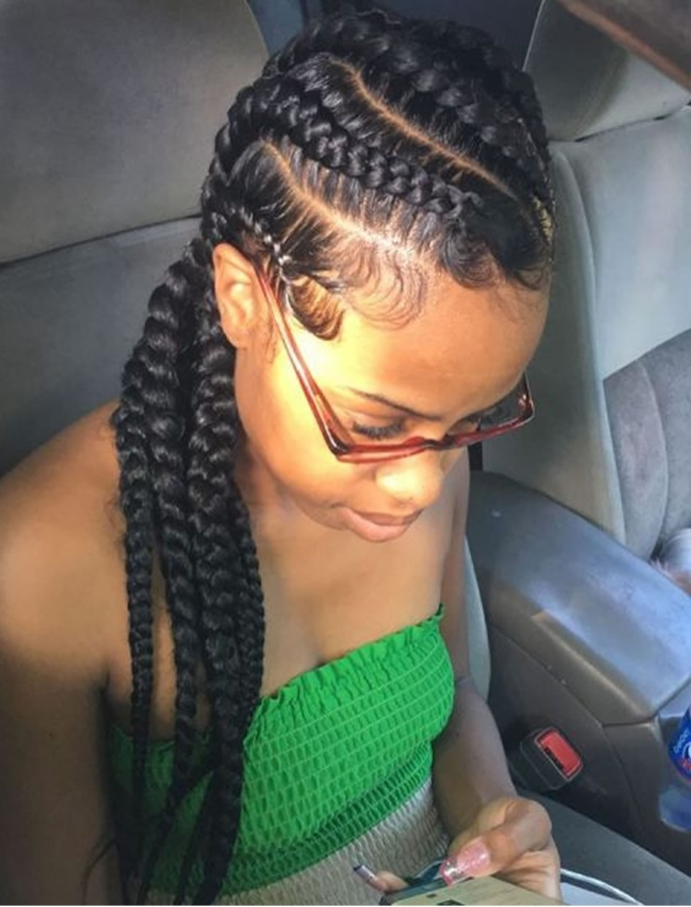 Well Known Big Updo Cornrows Hairstyles Inside 20 Best African American Braided Hairstyles For Women 2017 (View 15 of 15)