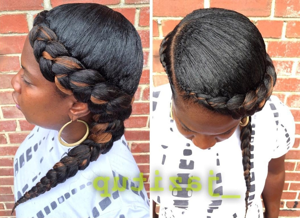 Well Known Braids Hairstyles With Curves Intended For 26+ Goddess Braided Hairstyle Designs (View 14 of 15)