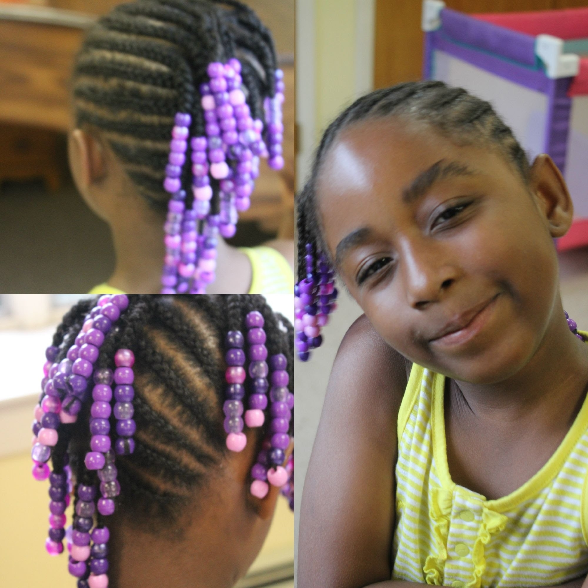 Well Known Cornrows Hairstyles For Work Within Kids Edition Side Mohawk Braids With Beads (watch Me Work ) – Youtube (View 9 of 15)