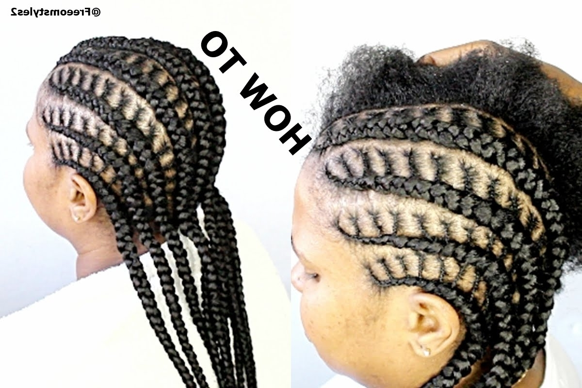 Well Known Easy Cornrows Hairstyles For How To Do Simple Cornrow Braids – Youtube (View 15 of 15)