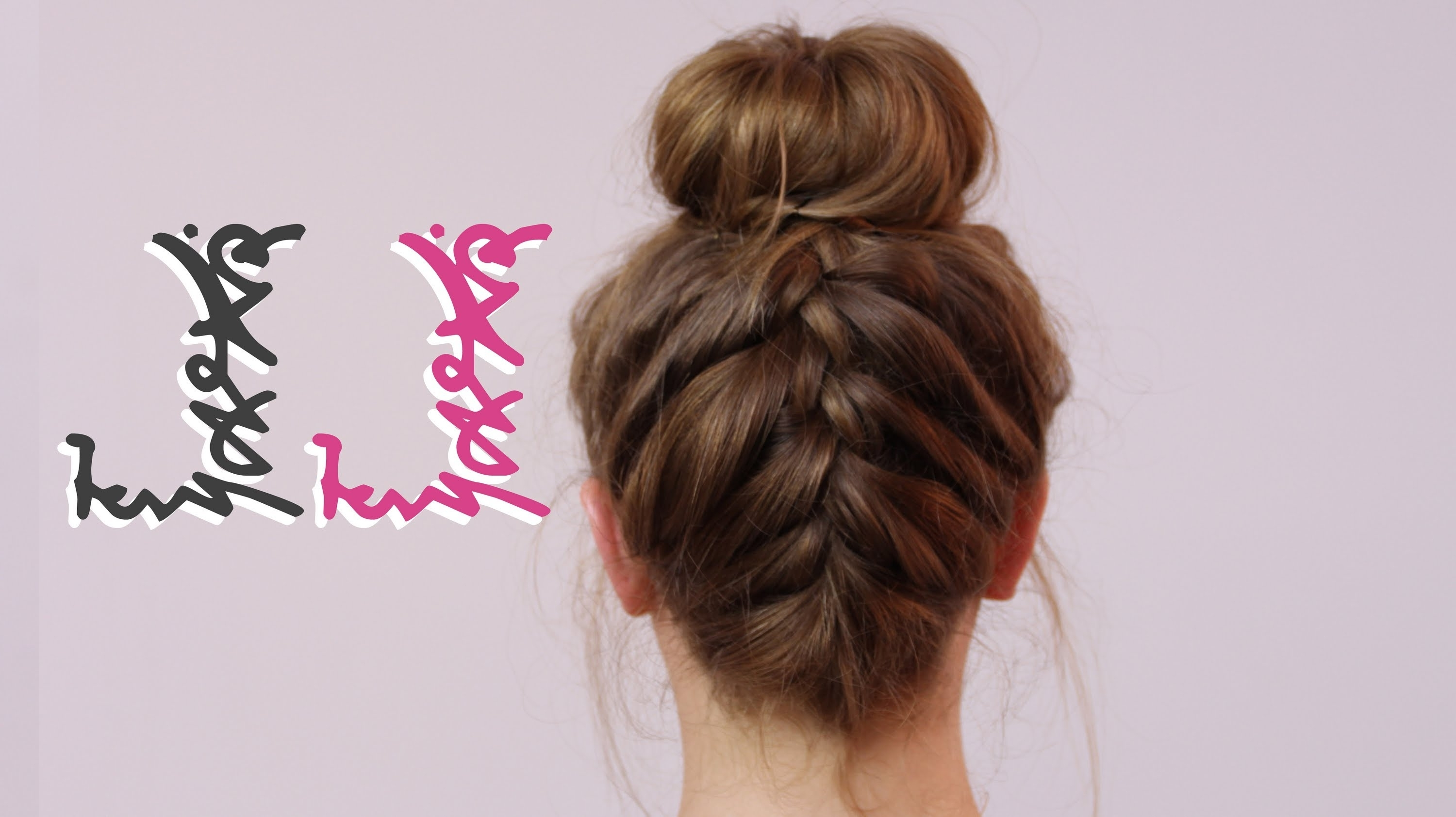 Well Known French Braids Into Braided Buns With Regard To How To: Back French Plait With Bun – Youtube (View 8 of 15)
