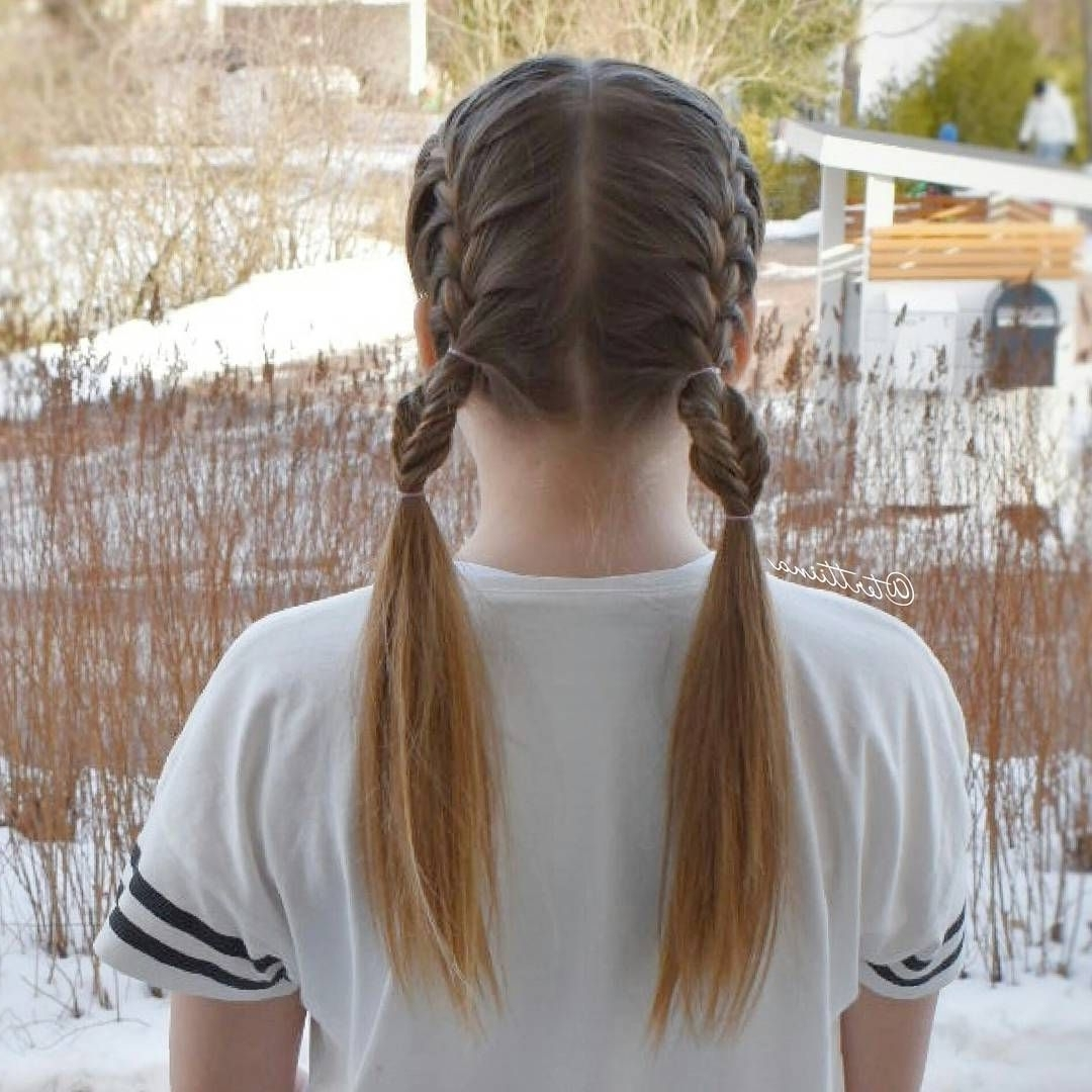 Well Known French Braids Into Pigtails Pertaining To French Braids Into Pigtails With Bubble Fishtails! #frenchbraids (View 14 of 15)