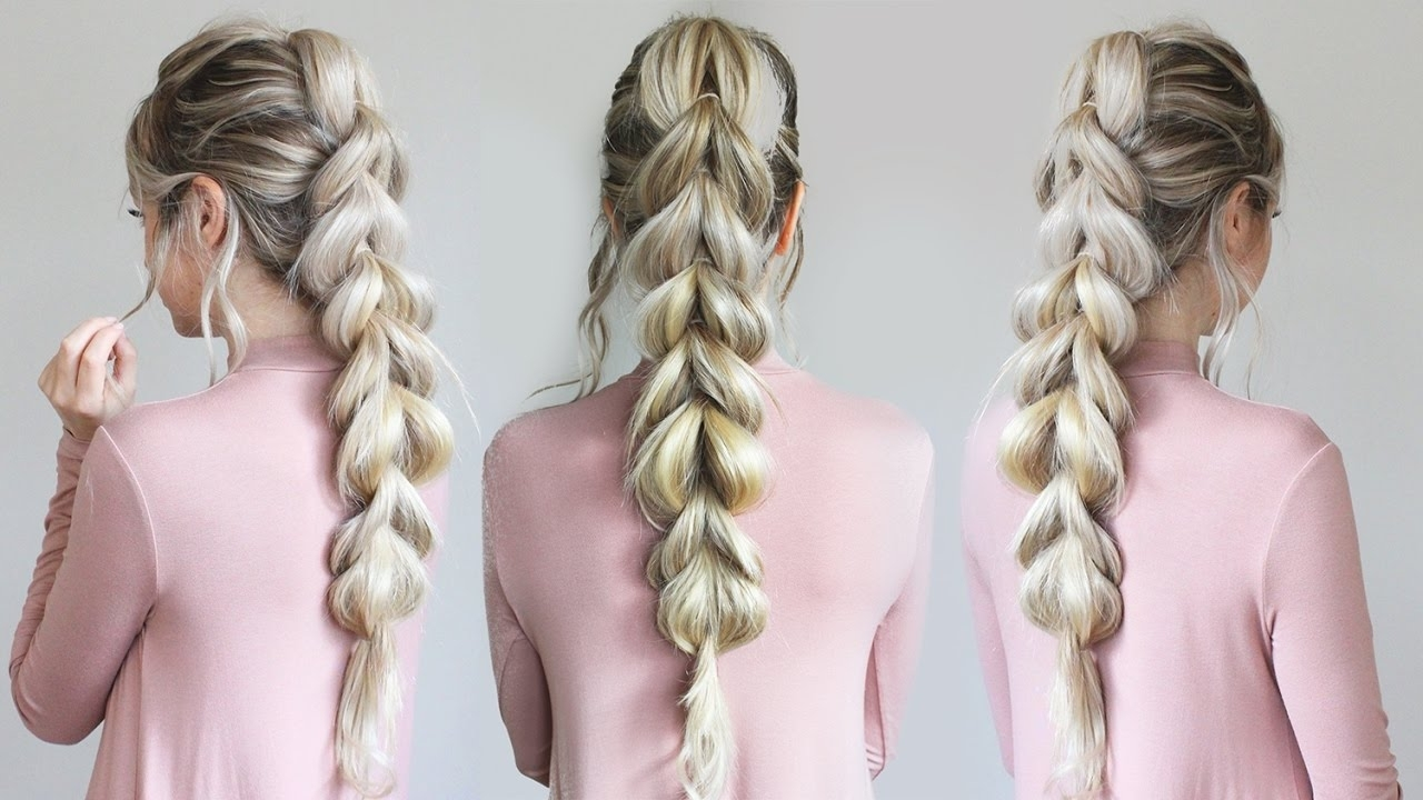 Well Known French Pull Back Braids Into Ponytail Inside How To: Pull Through Braid (View 15 of 15)