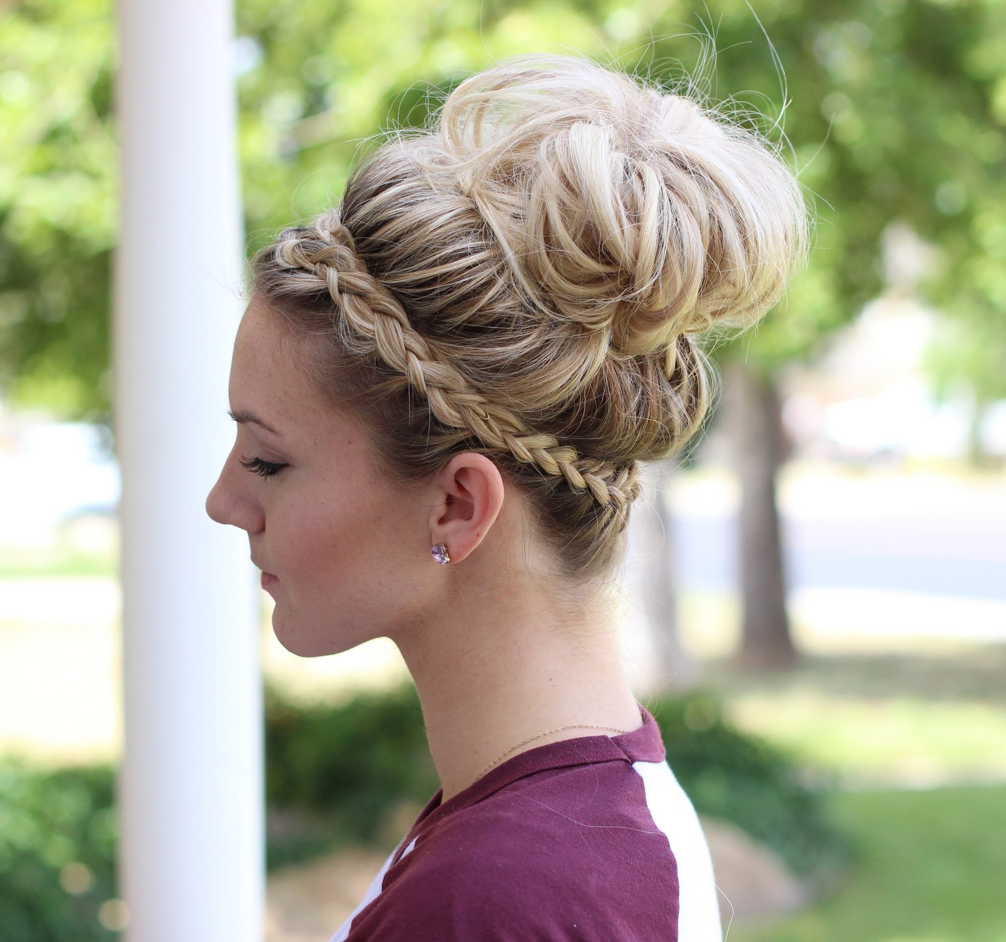 Well Known Large High Bun With A Headband Inside Captivating Large Bun Hairstyles About How To Crown Braid Messy Bun (View 14 of 15)