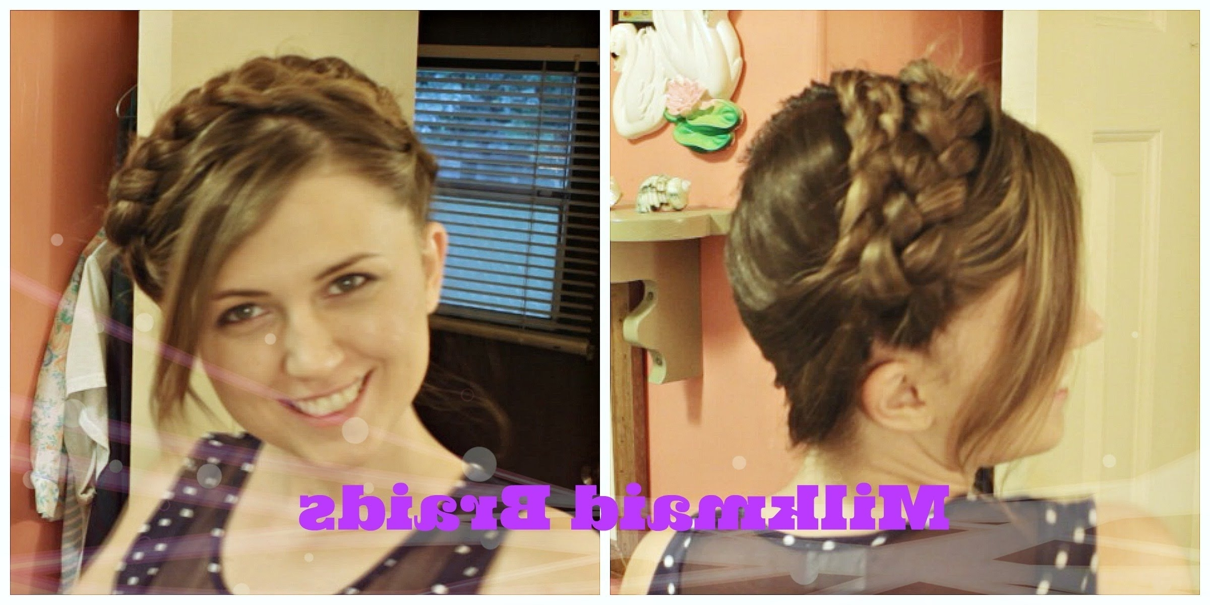 [%well Known Milkmaid Braids Hairstyles Throughout Easy Boho Braided Headband [no Heat], Milkmaid Braids Hair Tutorial|easy Boho Braided Headband [no Heat], Milkmaid Braids Hair Tutorial In Most Recently Released Milkmaid Braids Hairstyles%] (View 4 of 15)