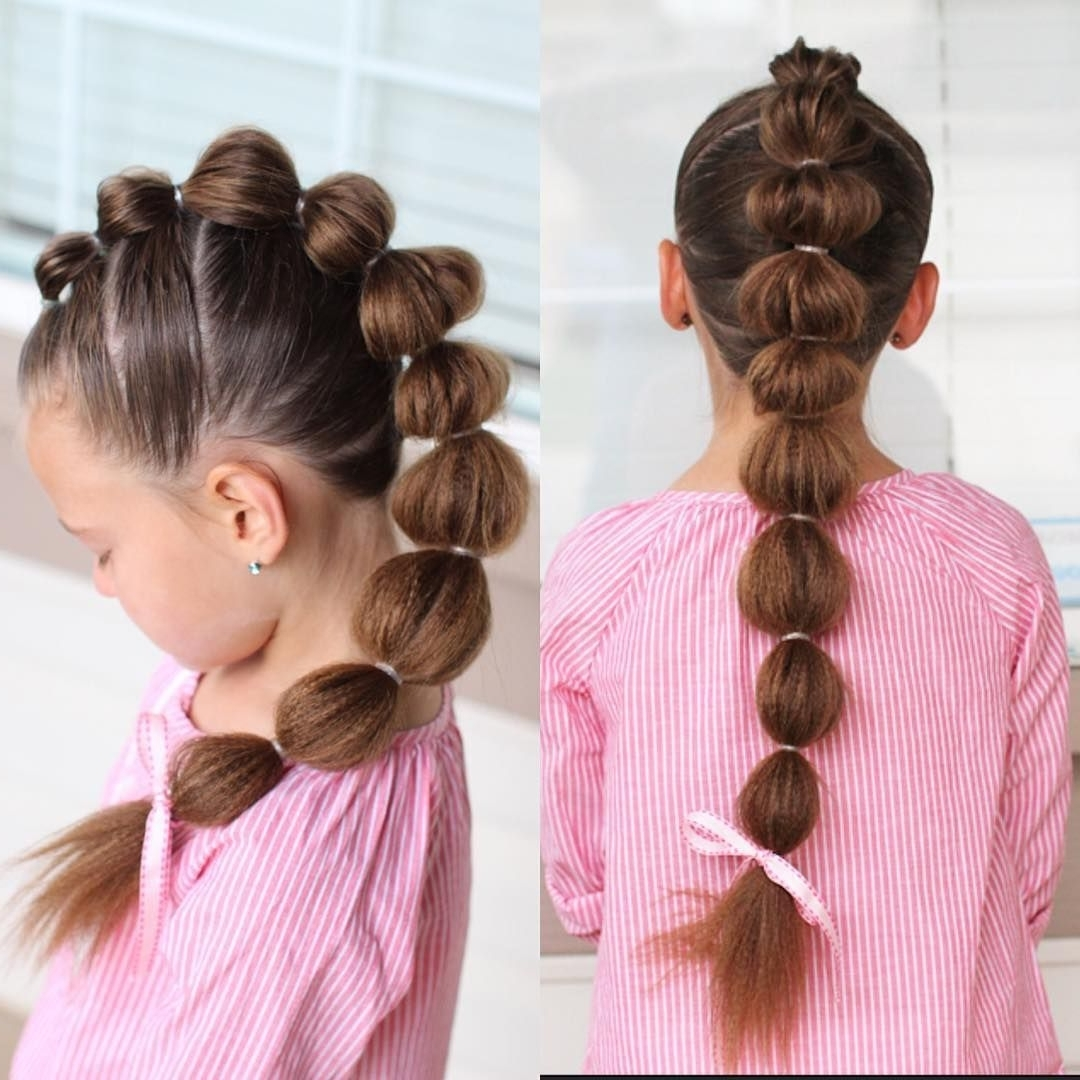 Well Known Mohawk French Braid Ponytail Hairstyles Pertaining To We've Been Having So Much Fun Playing With The Girls' Fluffy Micro (View 15 of 15)