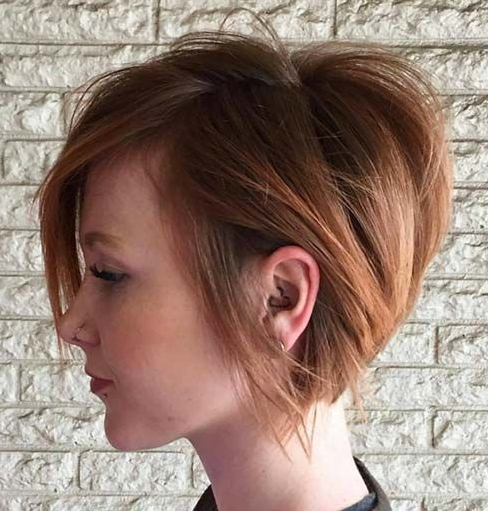 Well Known Piece Y Haircuts With Subtle Balayage Regarding 30 Stacked Bob Haircuts For Sophisticated Short Haired Women (View 4 of 15)