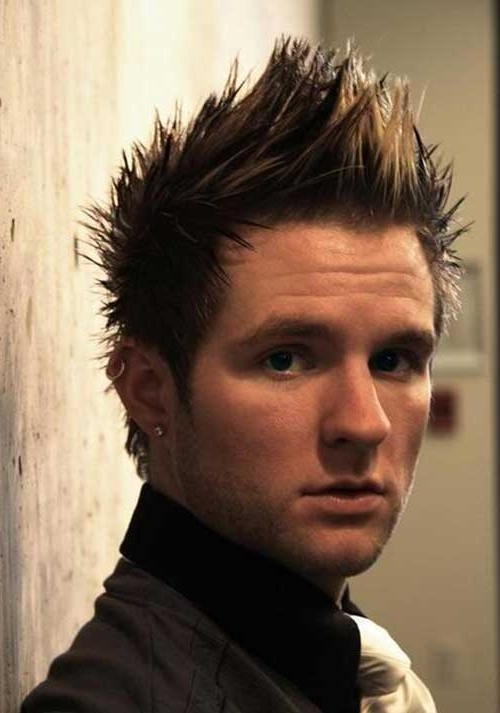Well Known Spiked Blonde Mohawk Haircuts For Spiky Haircuts For Guys (View 15 of 15)
