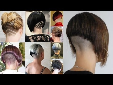 Well Known Stacked Pixie Haircuts With V Cut Nape In Extreme Bob Haircut Nape Shave – Nape Shaving Women – Bob Hairstyles (View 7 of 15)