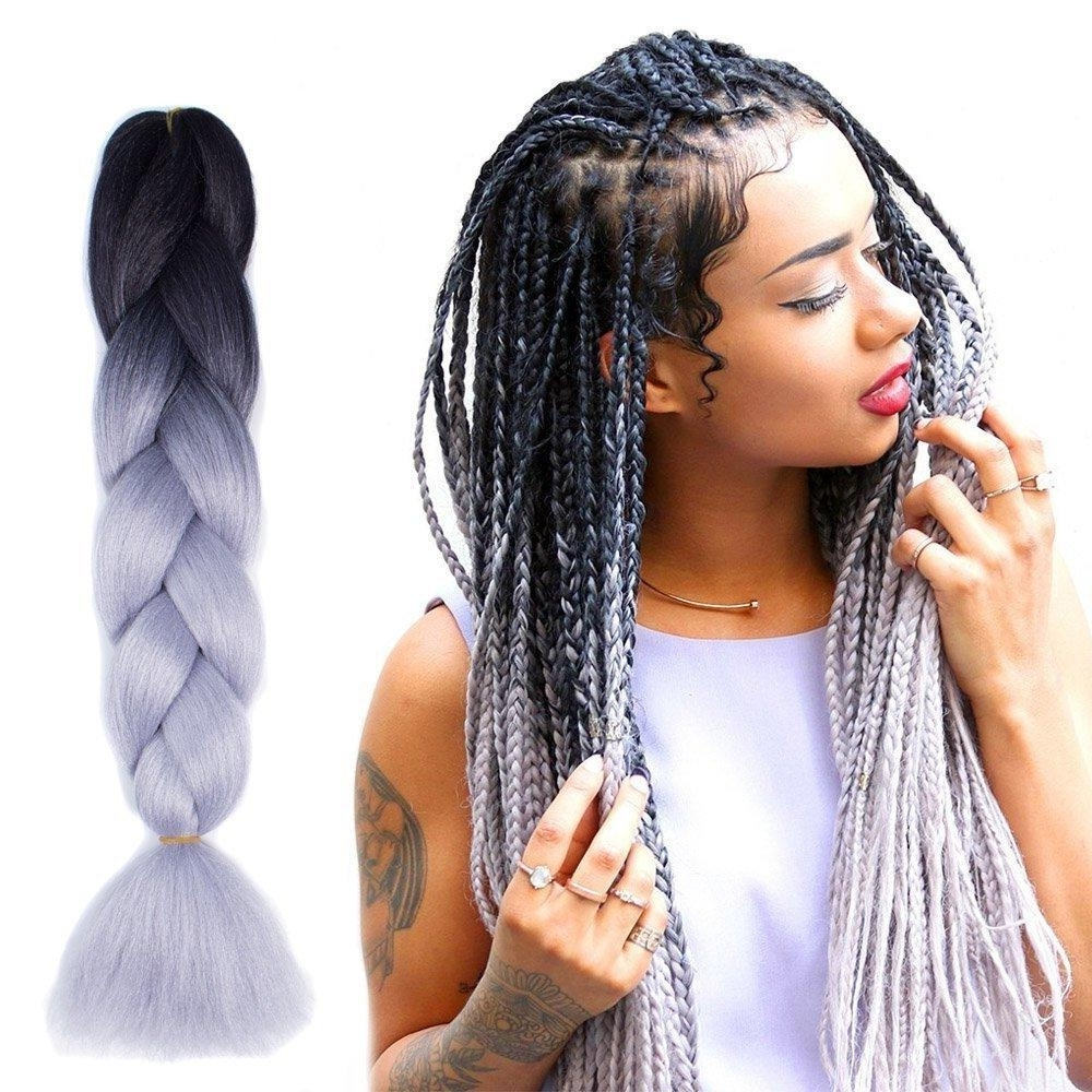 Well Known Top Knot Ponytail Braids With Pink Extensions Throughout Synthetic Hair Extension Two Tone Ombre Color Jumbo Braids Synthetic (View 14 of 15)