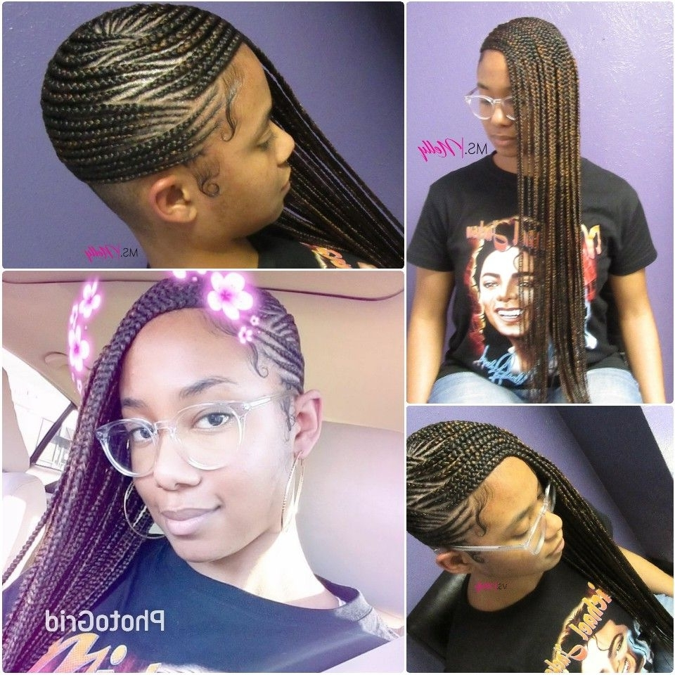 Well Known Two Toned Fulani Braids In A Top Bun With Regard To Lemonade Braids, Feeder Braids, Side Braids, Beyonce Braids (View 4 of 15)