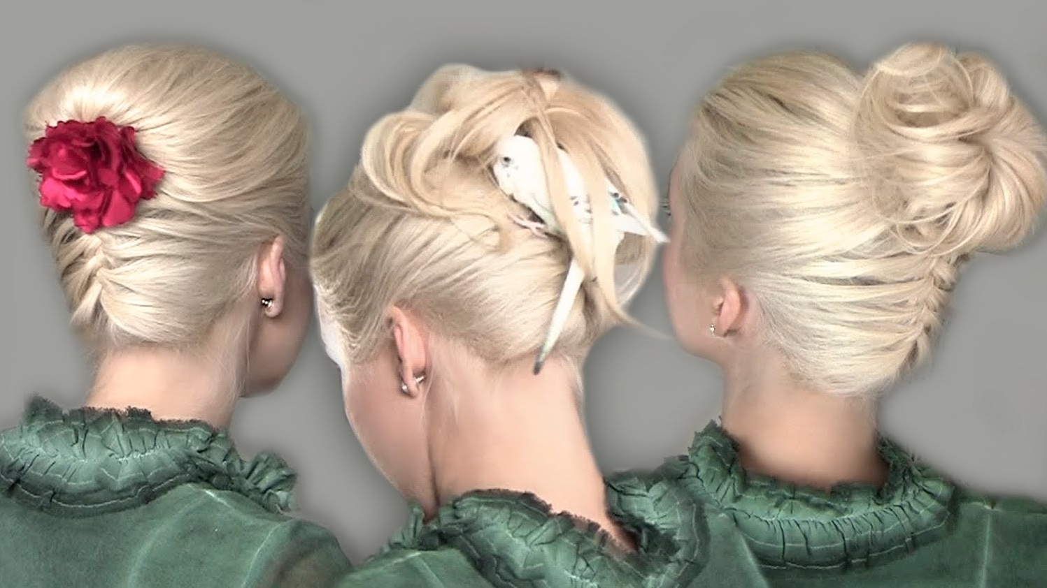 Well Known Updo With Forward Braided Bun Regarding Upside Down French Braid Bun Tutorial For School On Yourself – Youtube (View 15 of 15)