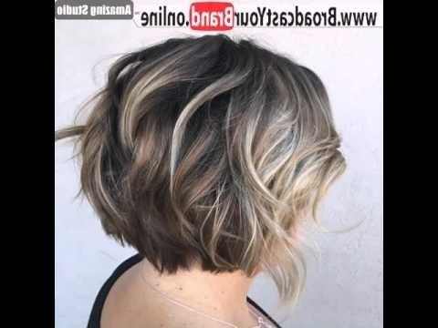 Well Liked Balayage Pixie Haircuts With Tiered Layers With Short Layered Brown Bob With Blonde Balayage – Youtube (View 15 of 15)