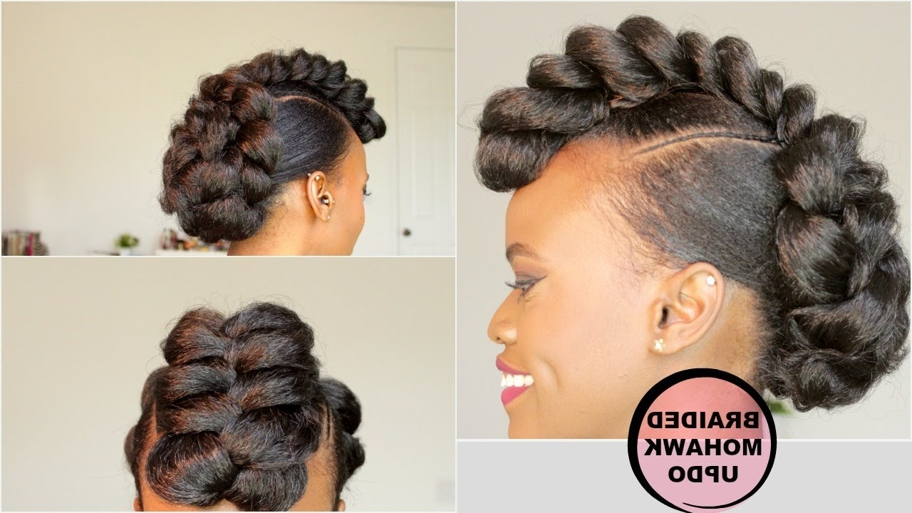[%Well Liked Black Braided Mohawk In Braided Mohawk Style Updo [Natural Hair Tutorial] – Black Hair|Braided Mohawk Style Updo [Natural Hair Tutorial] – Black Hair For Most Up To Date Black Braided Mohawk%] (View 1 of 15)