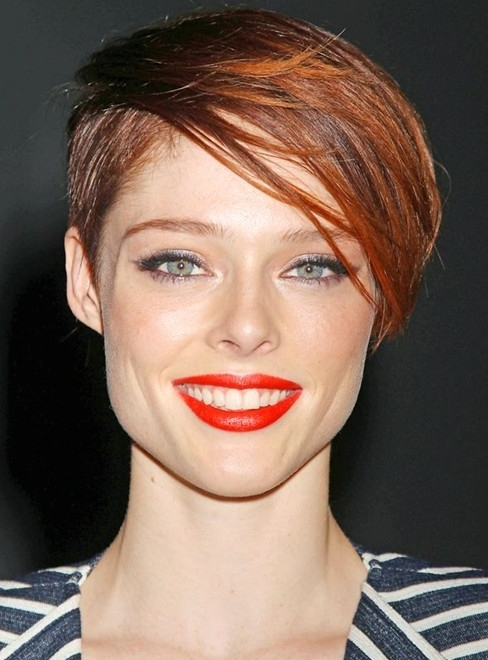 Well Liked Choppy Side Parted Pixie Bob Haircuts Regarding 100+ Hottest Short Hairstyles & Haircuts For Women – Pretty Designs (View 14 of 15)