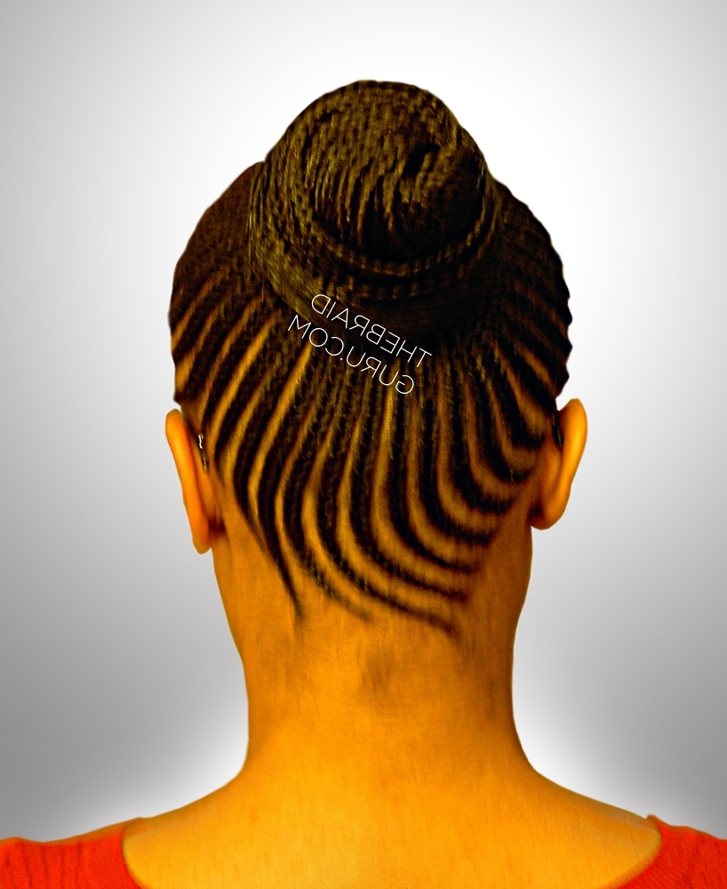 Well Liked Cornrows Upstyle Hairstyles Regarding Braid Gallery – The Braid Guru (View 13 of 15)
